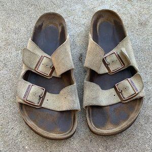 Birkenstock Arizona soft suede sandals